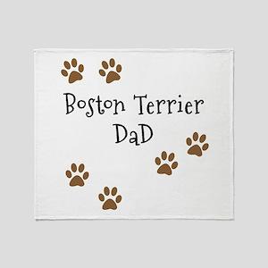 Boston Terrier Mom Throw Blanket