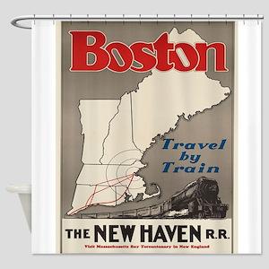 Vintage poster - Boston Shower Curtain