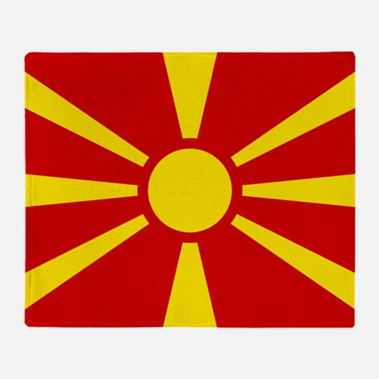 Flag Of Macedonia Throw Blanket