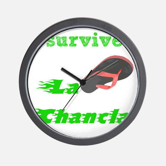 I survived L Chancla Wall Clock