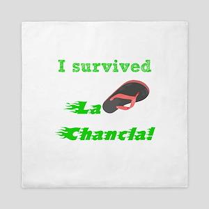 I survived L Chancla Queen Duvet