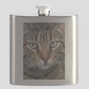 Brown Tabby Cat Flask