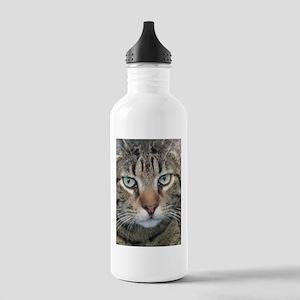 Brown Tabby Cat Water Bottle