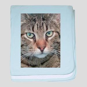 Brown Tabby Cat baby blanket