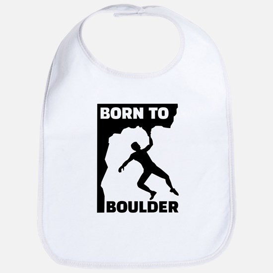 Born to Boulder Bib