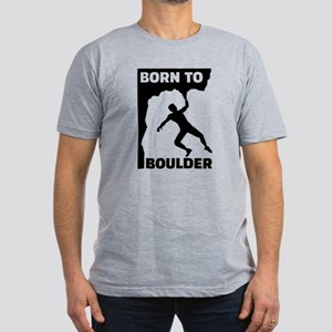 Born to Boulder Men's Fitted T-Shirt (dark)