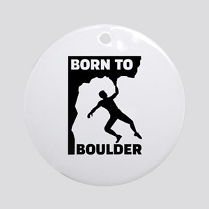 Born to Boulder Round Ornament