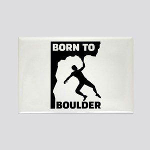 Born to Boulder Rectangle Magnet