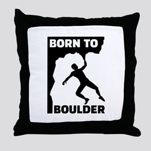 Born to Boulder Throw Pillow
