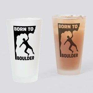 Born to Boulder Drinking Glass