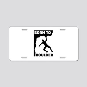 Born to Boulder Aluminum License Plate
