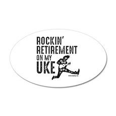Rockin Retirement Uke Wall Decal