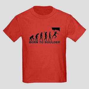 Evolution Born to Boulder Kids Dark T-Shirt