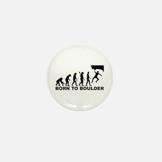 Evolution Born to Boulder Mini Button