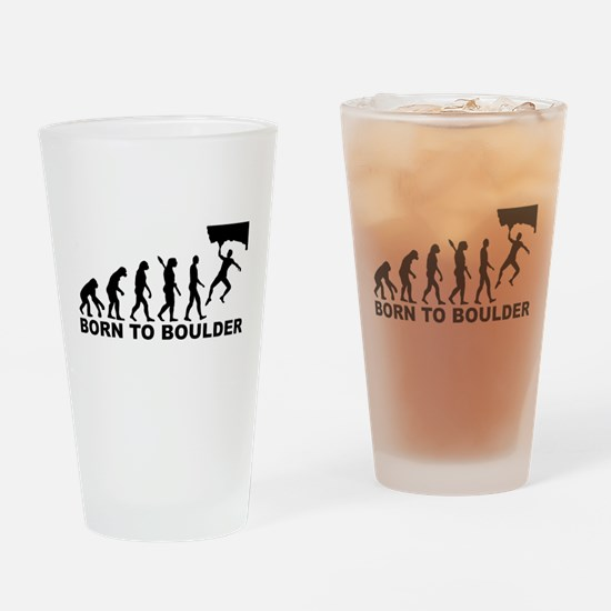 Evolution Born to Boulder Drinking Glass