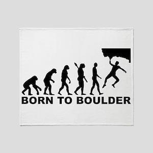 Evolution Born to Boulder Throw Blanket