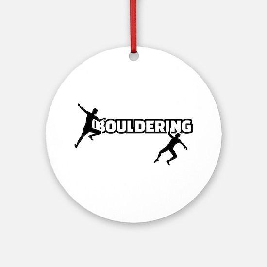 Bouldering Round Ornament