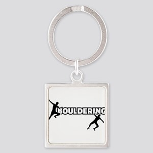 Bouldering Square Keychain