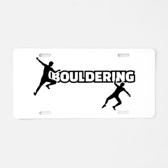 Bouldering Aluminum License Plate