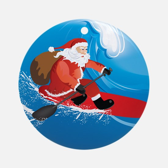Santa Sup Round Ornament