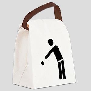 Boule Petanque player icon Canvas Lunch Bag