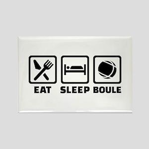 Eat sleep Boule Rectangle Magnet