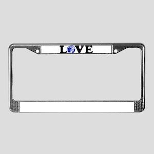 Boule love License Plate Frame