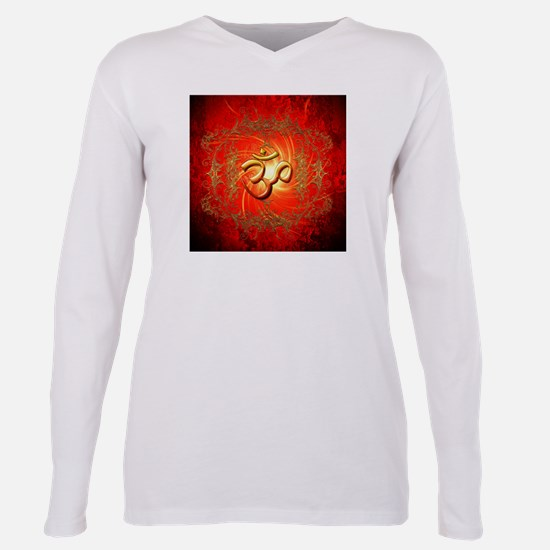 Om sign in gold,red T-Shirt