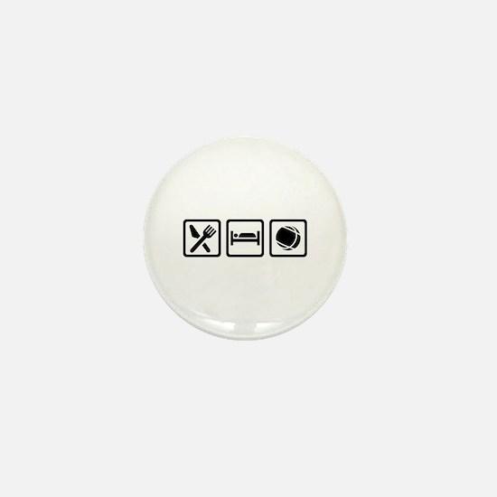 Eat sleep Boule Mini Button