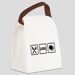 Eat sleep Boule Canvas Lunch Bag