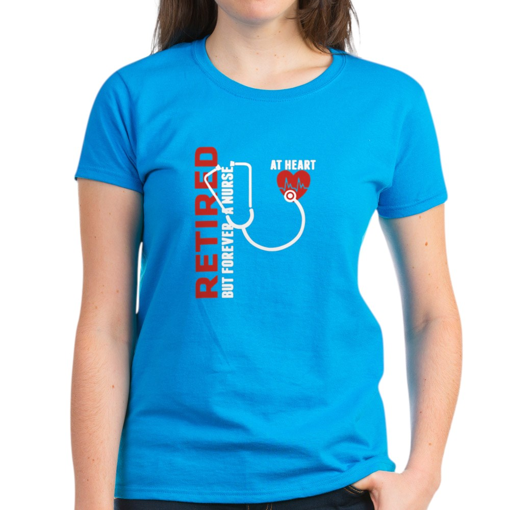 CafePress-Retired-Nurse-Heart-T-Shirt-Women-039-s-Cotton-T-Shirt-1746647024 thumbnail 47