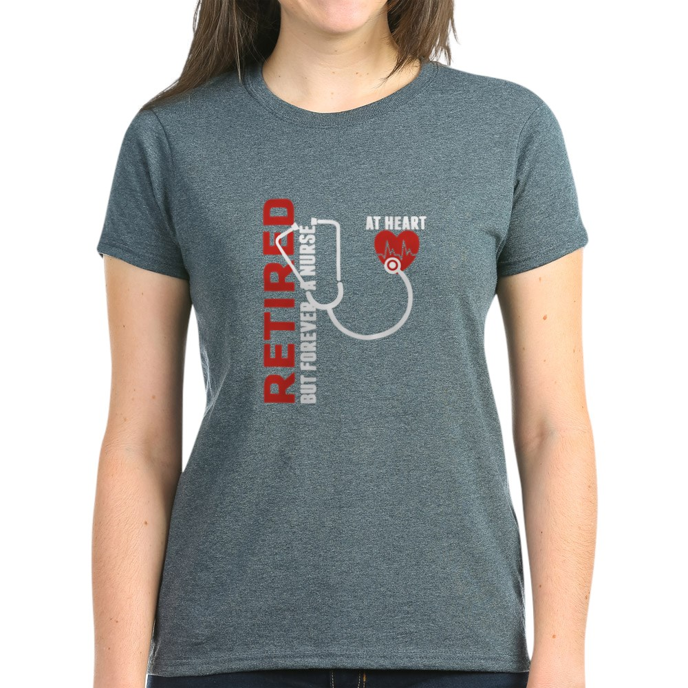 CafePress-Retired-Nurse-Heart-T-Shirt-Women-039-s-Cotton-T-Shirt-1746647024 thumbnail 53