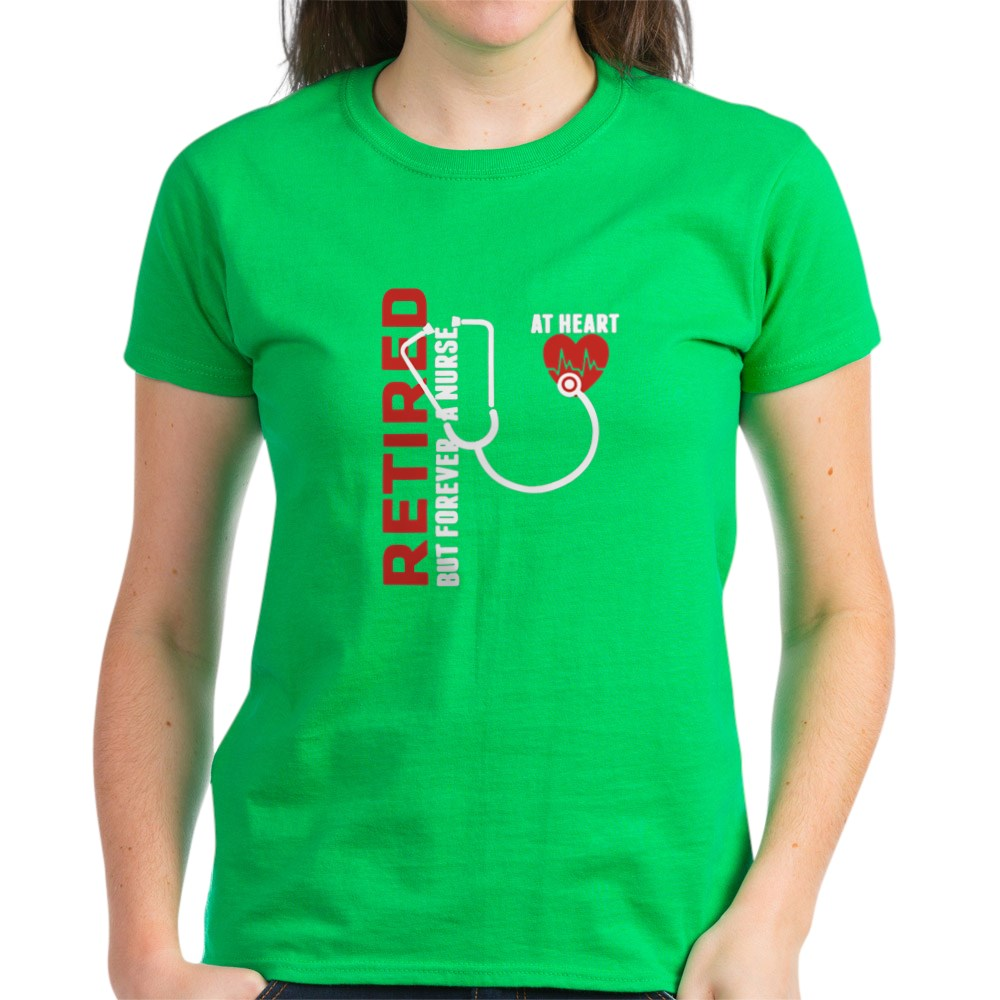 CafePress-Retired-Nurse-Heart-T-Shirt-Women-039-s-Cotton-T-Shirt-1746647024 thumbnail 67