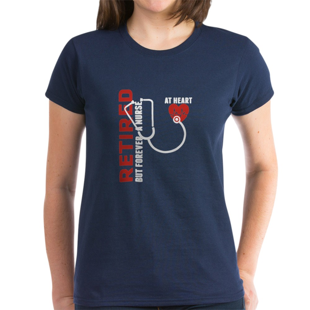 CafePress-Retired-Nurse-Heart-T-Shirt-Women-039-s-Cotton-T-Shirt-1746647024 thumbnail 33
