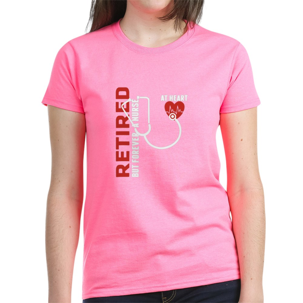 CafePress-Retired-Nurse-Heart-T-Shirt-Women-039-s-Cotton-T-Shirt-1746647024 thumbnail 23