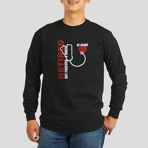 Retired Nurse Heart Long Sleeve T-Shirt