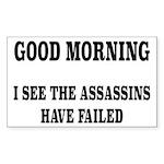 The Assassins Have Faile Sticker (Rectangle 10 pk)