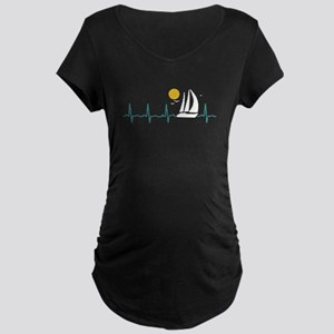 Sailing Heartbeat Maternity T-Shirt