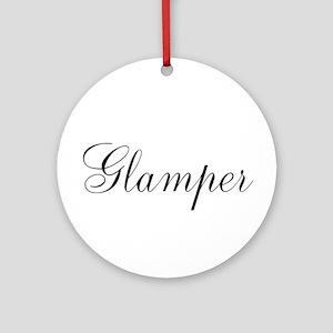 Glamper Round Ornament