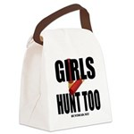 Girls Hunt Too Canvas Lunch Bag