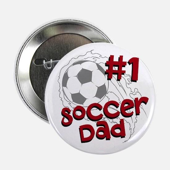 """#1 Soccer Dad 2.25"""" Button"""