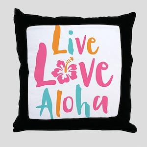 Live Love Aloha 2 Throw Pillow