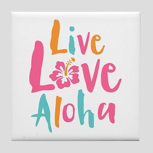 Live Love Aloha 2 Tile Coaster