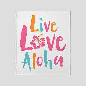 Live Love Aloha 2 Throw Blanket