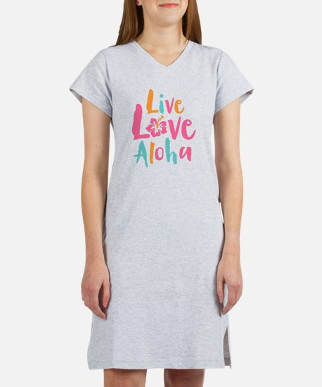 Live Love Aloha 2 Women's Nightshirt