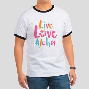 Live Love Aloha 2 Ringer T