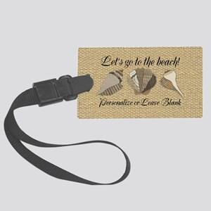 Lets Go To The Beach Personalize Large Luggage Tag