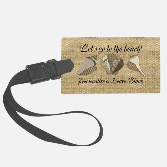 Lets Go To The Beach Personalize Luggage Tag