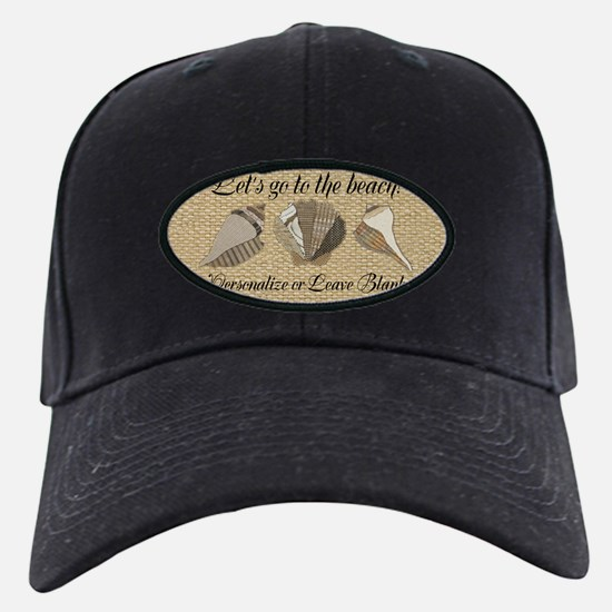 Lets Go To The Beach Personalized Shells Baseball Hat