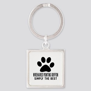 Wirehaired Pointing Griffon Simply Square Keychain